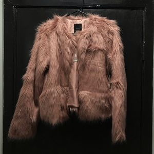Forever 21 Jackets & Coats - Collarless Faux Fur Jacket